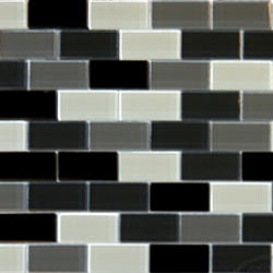 "1""x2"" Glass Brick Black Blend"