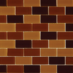 "1""x2"" Glass Brick Brown Blend"