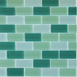 "1""x2"" Glass Brick Green Blend"