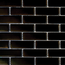 "1""x2"" Metal Black Brick"