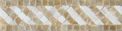 """Giallo Crystal Onyx 2""""x8"""" Tebe Border"""