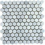1″ Marble New China Carrara Hexagon
