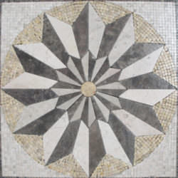 Marble Medallion Style 1 Tumbled Materials Emperador