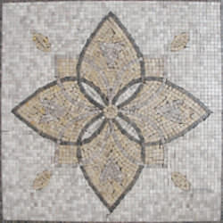 Marble Medallion Style 3 Tumbled Materials Emperador