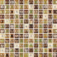 """1""""x1"""" Apollo Roman Mosaic"""
