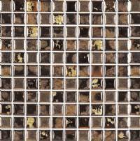 "1""x1"" Black Swan Roman Mosaic"