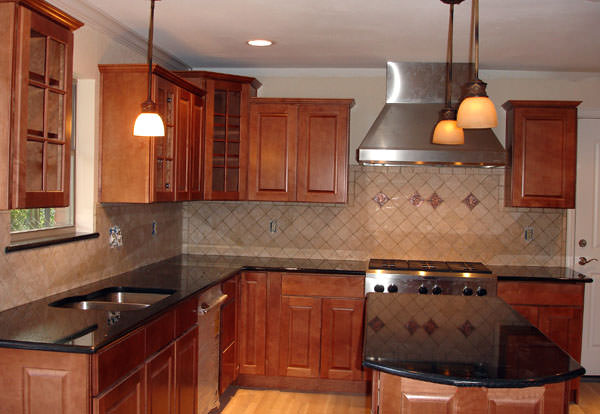 Black Granite Countertops : Black galaxy granite tile countertop
