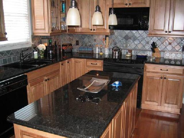 Black Granite Countertops : Black pearl cat eye granite tile